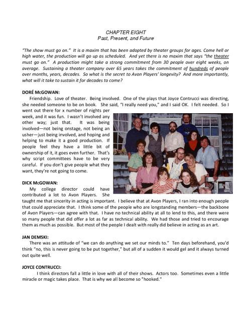 Avon Players History - Chapter 8 (Longevity)