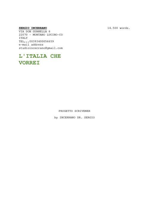 Copy of PROGETTO GOVERNATIVO DI FUTUROITALIA FEDERALE