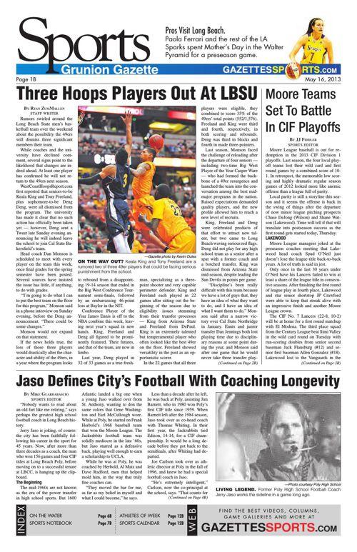 Gazette Sports | May 16, 2013