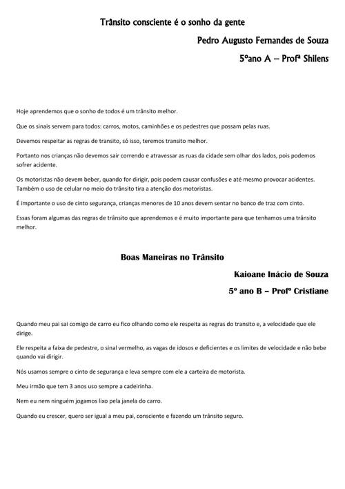 TRABALHO AMIGOS DO TRÂNSITO