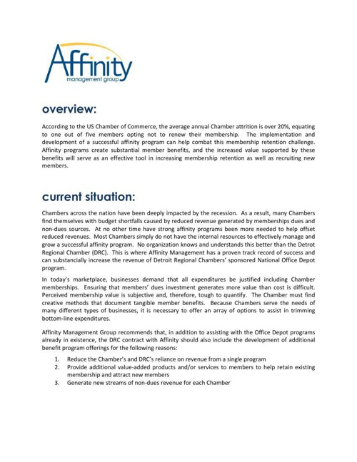 Affinity Program Proposal - National Chamber Program 91310