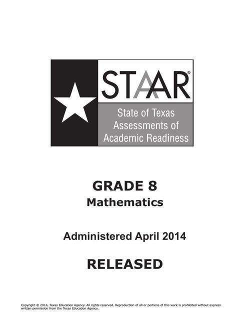 STAAR-G8-2014Test-math