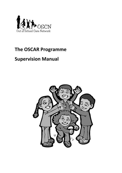 The OSCAR Programme Supervision Manual - sample pages 2017