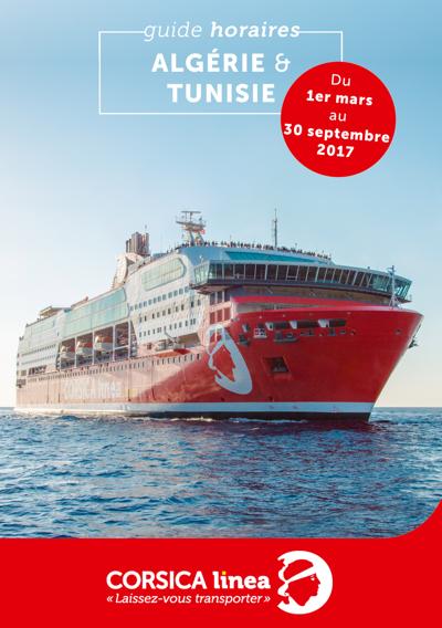 Guide Horaires Corsica Linea - Algérie & Tunisie 2017