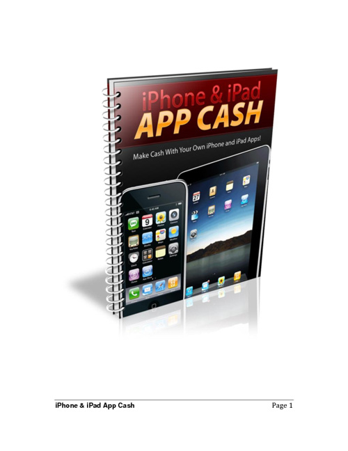 iPhone & iPad App Cash report