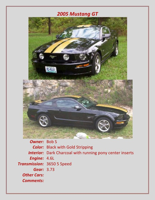 2004-2007 Members' Cars