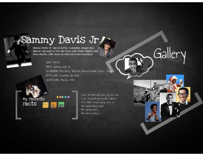 Sammy davis Jr Project zack