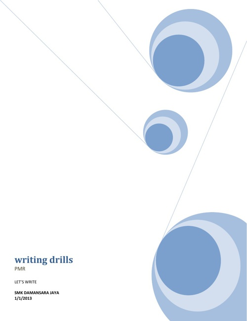 WRITING DRILS