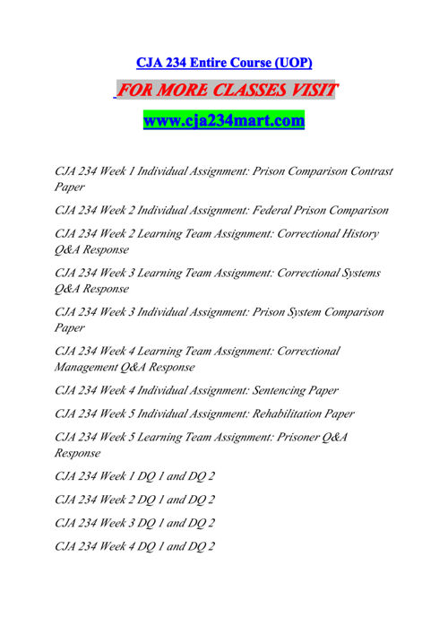 CJA 234 MART Experience Tradition/cja234mart.com