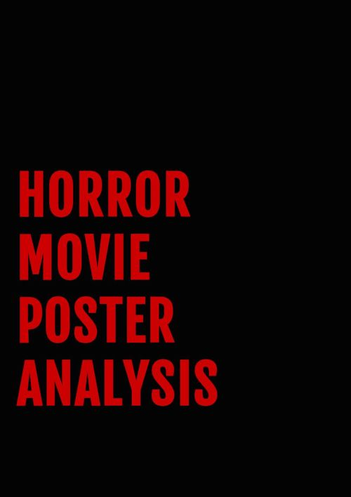 Horror Movie Poster Analysis