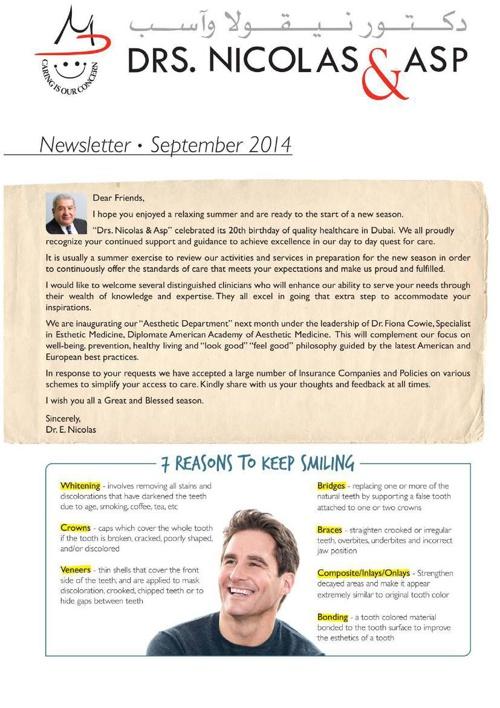 DNA September 2014 Newsletter