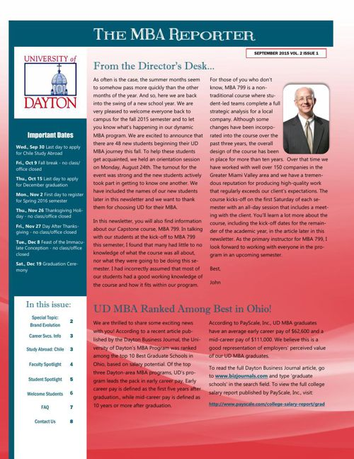 MBA Newsletter Sep 2015