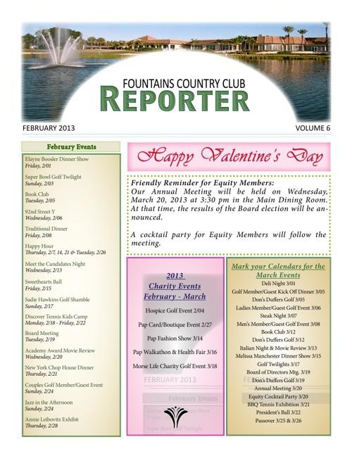 Feb News letter