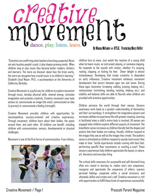 Creative Movement - Prescott Parent Magazine