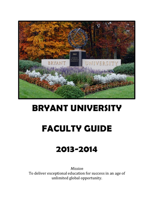 Faculty Guide 2013-2014