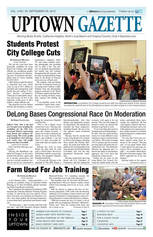 Uptown Gazette  |  September 28, 2012