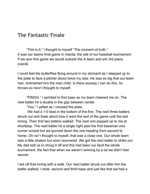 The Fantastic Finale