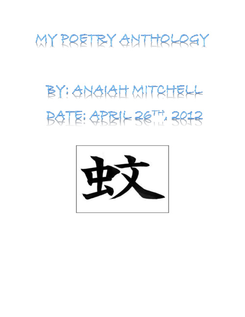 Poetry Anthology- Anaiah Mitchell