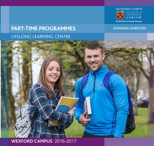 ITCarlow - Wexford Part-Time Prospectus 2016-2017