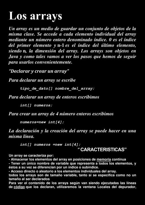 LOS ARRAYS