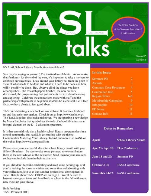 TASL Talks April 2013