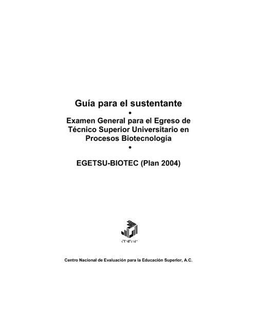 Guía EGETSU Biotecnología