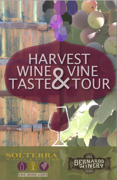 VineArt.org Harvest Wine Taste & Vine Tour Pamphlet