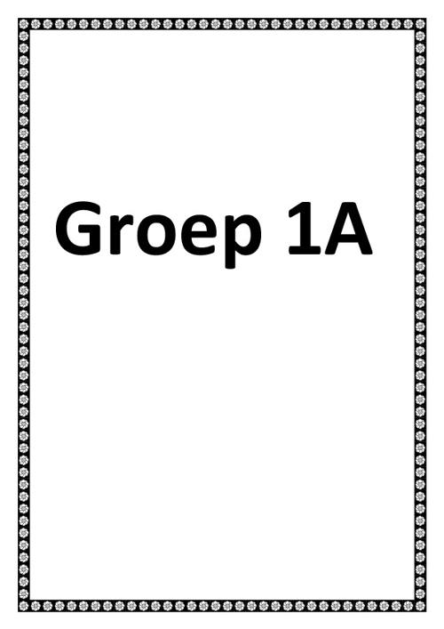 Groep 1A