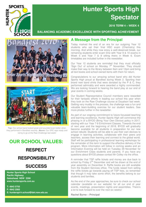Term 4 Week 4 Newsletter 2016