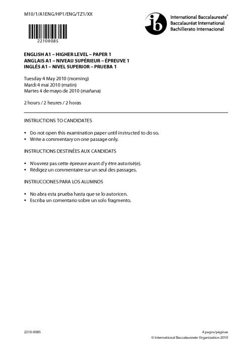 Paper 1 - 2010 Exam