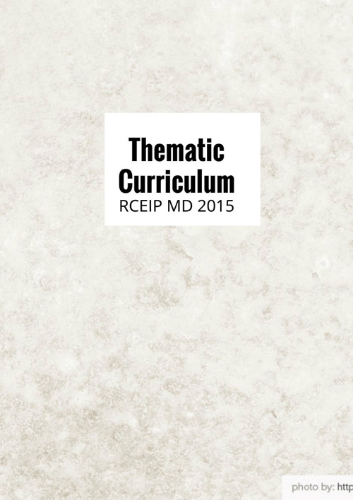 Thematic Curriculum RCEIP MD 2015