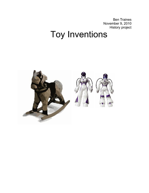 1920's Toy Inventions