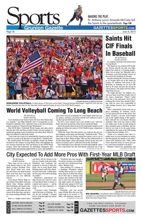 Gazette Sports June 4, 2015