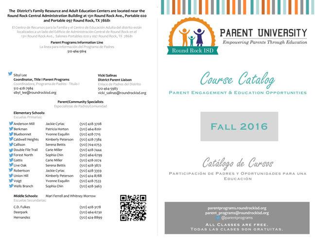 Course Catalog  Fall2016 - ENG & SPAN