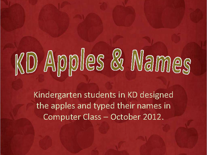 KD Apples & Names