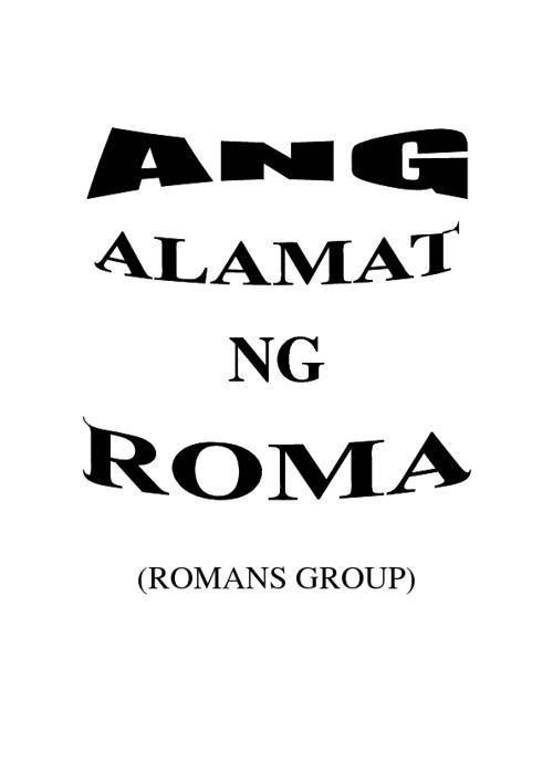 Alamat ng Roma by Charish Mae Alvarado and Richmond del Rosario