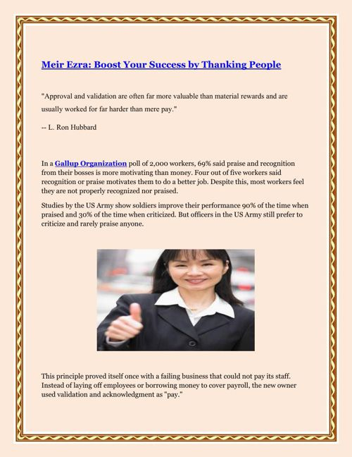 Meir Ezra Boost Your Success by Thanking People