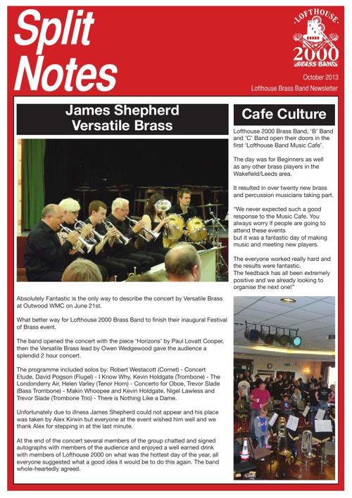 Split Notes - October 2013