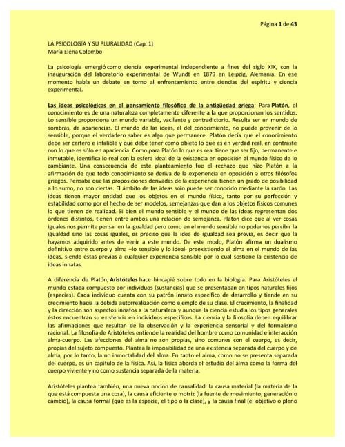 Cbc Uba colombo 1 resumen