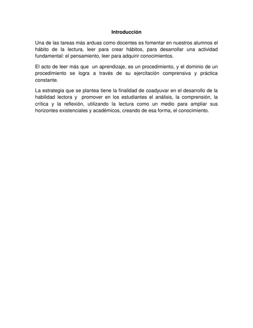 ESTRATEGIAS DE LECTURA