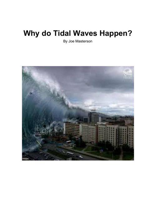 Why do tidal waves happen