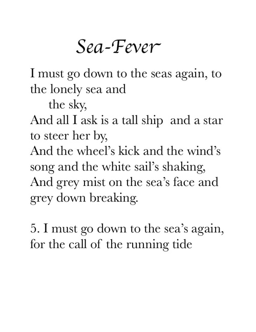 Monyae Washington, Sea Fever
