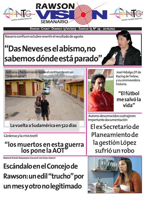 Rawson Visión Semanario Online Full Color Edición Nro 29