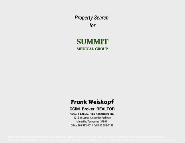 Summit Medical Property Search Report