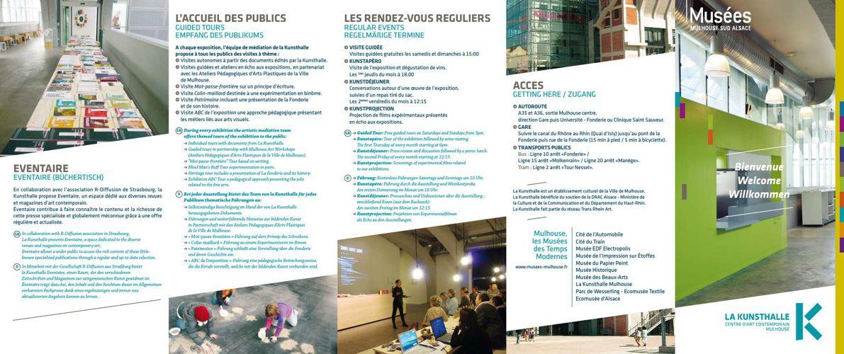 Brochure La Kunsthalle  Mulhouse