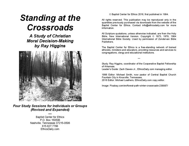 Standing at the Crossroads: Student Guide Preview