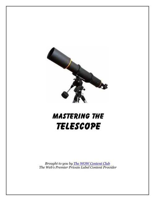 Mastering The Telescope