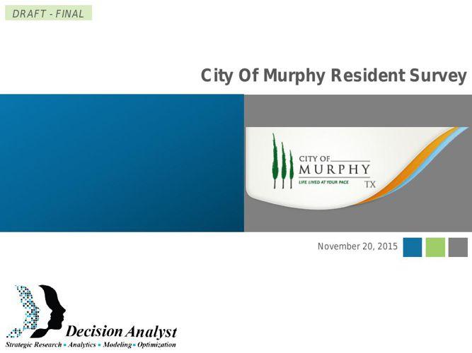 City of Murphy Resident Survey