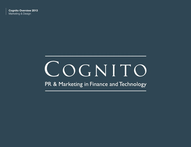Cognito Marketing Overview 2013