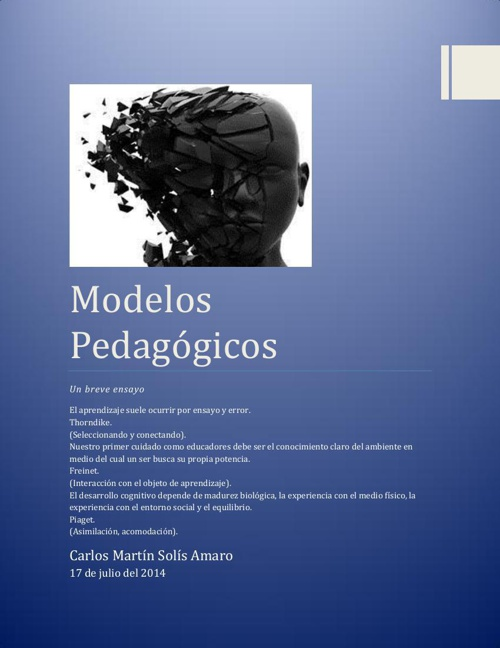 Modelos Pedagógicos_Un breve ensayo_Carlos Solís